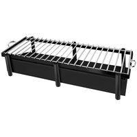 Eastern Tabletop 3259GMB Pillar'd 41 1/2 inch x 11 1/2 inch x 10 inch Black Coated Stainless Steel Grill Stand with Removable Grill Top