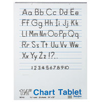Pacon 74710 24 inch x 32 inch White Ruled Chart Tablet with Manuscript Cover