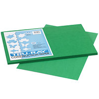 Pacon 102961 Tru-Ray 12 inch x 18 inch Holiday Green Pack of 76# Construction Paper - 50/Sheets