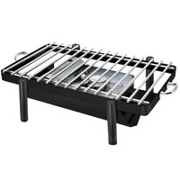 Eastern Tabletop 3256GMB Pillar'd 28 inch x 11 1/2 inch Black Coated Stainless Steel Grill Stand with Removable Grill Top