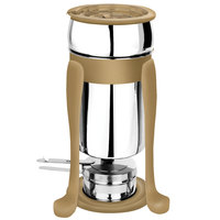 Eastern Tabletop 3101FSRZ Freedom 2 Qt. Stainless Steel Soup Marmite with Bronze Accents and Fuel Holder