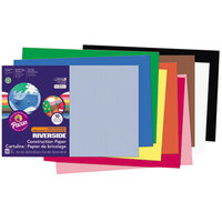 Pacon 103638 Riverside 12 inch x 18 inch Assorted Color Pack of 76# Construction Paper - 50/Sheets