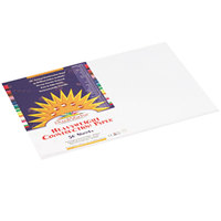 SunWorks 8707 12 inch x 18 inch Bright White Pack of 58# Construction Paper - 50/Sheets