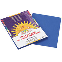 SunWorks 7503 9 inch x 12 inch Bright Blue Pack of 58# Construction Paper - 50/Sheets