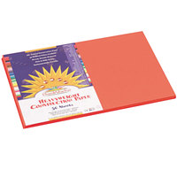 SunWorks 6607 12 inch x 18 inch Orange Pack of 58# Construction Paper - 50/Sheets