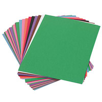 SunWorks 6503 9 inch x 12 inch Assorted Color Pack of 58# Construction Paper - 50/Sheets