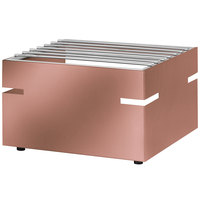 Eastern Tabletop 3277CP LeXus 14 1/2 inch x 12 inch x 9 inch Copper Coated Stainless Steel Action Station Butane Stove Cover Up with Grill Top