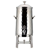 Bon Chef 42005C-H-E Contemporary 5 Gallon Insulated Hammered Stainless Steel Electric Coffee Chafer Urn with Chrome Trim