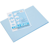 Pacon 103048 Tru-Ray 12 inch x 18 inch Sky Blue Pack of 76# Construction Paper - 50/Sheets