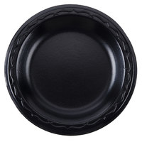 Genpak LAM06-3L Elite 6 inch Black Laminated Foam Plate - 125/Pack