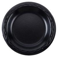 Genpak LAM06-3L Elite 6 inch Black Laminated Foam Plate - 125/Pack