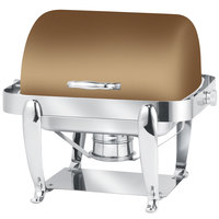 Eastern Tabletop 3117RZ Park Avenue 4 Qt. Rectangular Bronze Coated Stainless Steel Roll Top Chafer