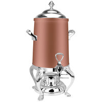 Eastern Tabletop 3203QACP Queen Anne 3 Gallon Copper Coated Stainless Steel Coffee Urn with Fuel Holder