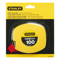 Stanley Bostitch 34106 100' Yellow Long Tape Measure with 1/8 inch Graduations