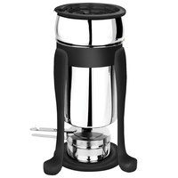 Eastern Tabletop 3101FSMB Freedom 2 Qt. Stainless Steel Soup Marmite with Black Accents and Fuel Holder