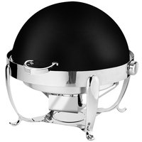 Eastern Tabletop 3118MB Park Avenue 8 Qt. Round Black Coated Stainless Steel Roll Top Chafer