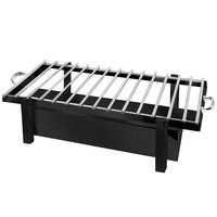 Eastern Tabletop 3249GMB P2 28 inch x 11 1/2 inch Black Coated Stainless Steel Grill Stand with Removable Grill Top