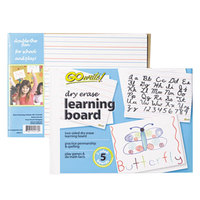 Pacon LB8511 11 inch x 8 1/4 inch Dry Erase Learning Board - 5/Pack