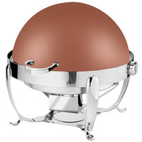 Eastern Tabletop 3118CP Park Avenue 8 Qt. Round Copper Coated Stainless Steel Roll Top Chafer