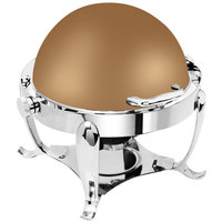 Eastern Tabletop 3119RZ Park Avenue 4 Qt. Round Bronze Coated Stainless Steel Roll Top Chafer