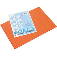 Pacon 103034 Tru-Ray 12 inch x 18 inch Orange Pack of 76# Construction Paper - 50/Sheets
