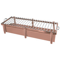 Eastern Tabletop 3259GCP Pillar'd 41 1/2 inch x 11 1/2 inch x 10 inch Copper Coated Stainless Steel Grill Stand with Removable Grill Top