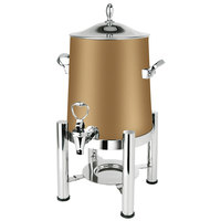 Eastern Tabletop 3123RZ Pillar'd 3 Gallon Bronze Coated Stainless Steel Coffee Urn with Fuel Holder