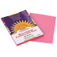 SunWorks 7003 9 inch x 12 inch Pink Pack of 58# Construction Paper - 50/Sheets