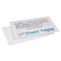 Pacon 74720 24 inch x 16 inch White Ruled Chart Tablet with Manuscript Cover