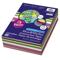 SunWorks 6525 Smart-Stack 9 inch x 12 inch Assorted Color Pack of 58# Heavy Weight Construction Paper - 300/Sheets