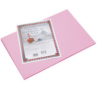 Pacon 103615 Riverside 12 inch x 18 inch Pink Pack of 76# Construction Paper - 50/Sheets