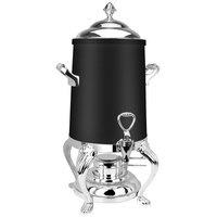 Eastern Tabletop 3203QAMB Queen Anne 3 Gallon Black Coated Stainless Steel Coffee Urn with Fuel Holder
