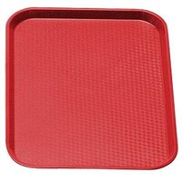 Cambro 1418FF163 Red 14 inch x 18 inch Customizable Fast Food Tray 12/Case