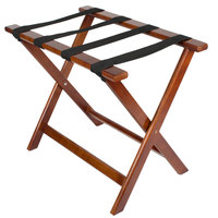 Lancaster Table &amp&#x3b; Seating 24 1/2 inch x 15 inch x 20 inch Wood Folding Luggage Rack
