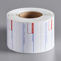 Cardinal Detecto 6600-3001 2 5/16 inch x 1 5/8 inch Pre-Printed Thermal Label Roll, 700 Labels/Roll