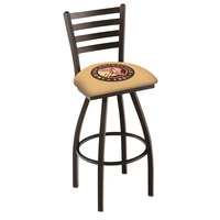 Holland Bar Stool L01430Indn-HD Indian Motorcycle Swivel Stool with Ladder Back and Padded Seat