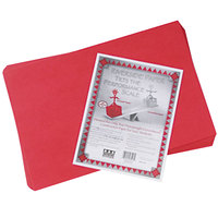 Pacon 103443 Riverside 12 inch x 18 inch Holiday Red Pack of 76# Construction Paper - 50/Sheets