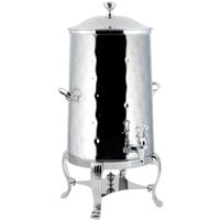 Bon Chef 40005CH-H Aurora 5 Gallon Insulated Hammered Stainless Steel Coffee Chafer Urn with Chrome Trim