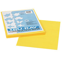 Pacon 103004 Tru-Ray 9 inch x 12 inch Yellow Pack of 76# Construction Paper - 50/Sheets