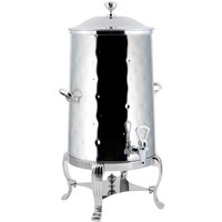 Bon Chef 40005-1CH-H Aurora 5 Gallon Insulated Hammered Stainless Steel Coffee Chafer Urn with Chrome Trim