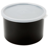 Cambro CP15110 1.5 Qt. Black Round Crock with Lid