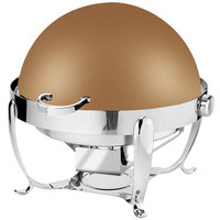Eastern Tabletop 3118RZ Park Avenue 8 Qt. Round Bronze Coated Stainless Steel Roll Top Chafer