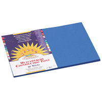 SunWorks 7507 12 inch x 18 inch Bright Blue Pack of 58# Construction Paper - 50/Sheets