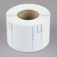 Cardinal Detecto 6600-3002 2 5/16 inch x 2 3/8 inch Pre-Printed Label Roll