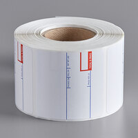 Cardinal Detecto 6600-3002 2 5/16 inch x 2 3/8 inch Pre-Printed Thermal Label Roll, 500 Labels/Roll