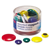 Officemate 92500 Assorted Plastic Circle Magnets - 30/Pack