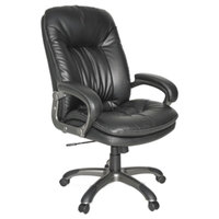 OIF GM4119 Black Executive Leather High-Back Swivel / Tilt Chair with Arms