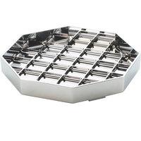 "Cal-Mil 308-6-49 Classic 6"" Chrome Octagonal Drip Tray"
