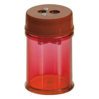 Officemate 30240PK Red Manual Twin Pencil / Crayon Sharpener - 8/Pack