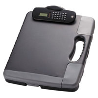 Officemate 83302 1 inch Capacity 8 1/2 inch x 11 inch Portable Storage Clipboard Case with Calculator and File Pockets